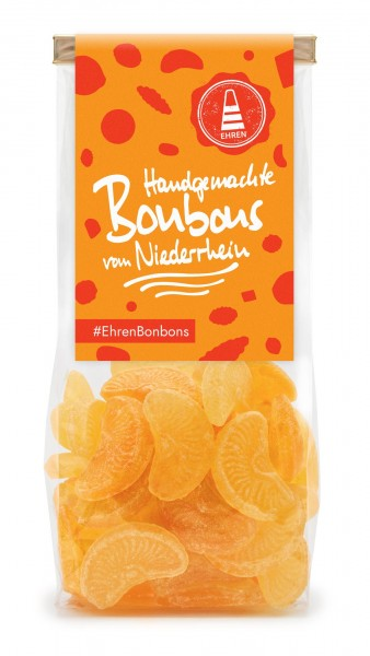 Orangen Bonbons im Beutel