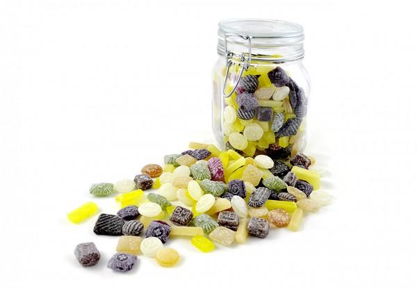 Kräuter-Bonbons Mix im Glas